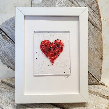 Picture With Fused Glass Heart Detail