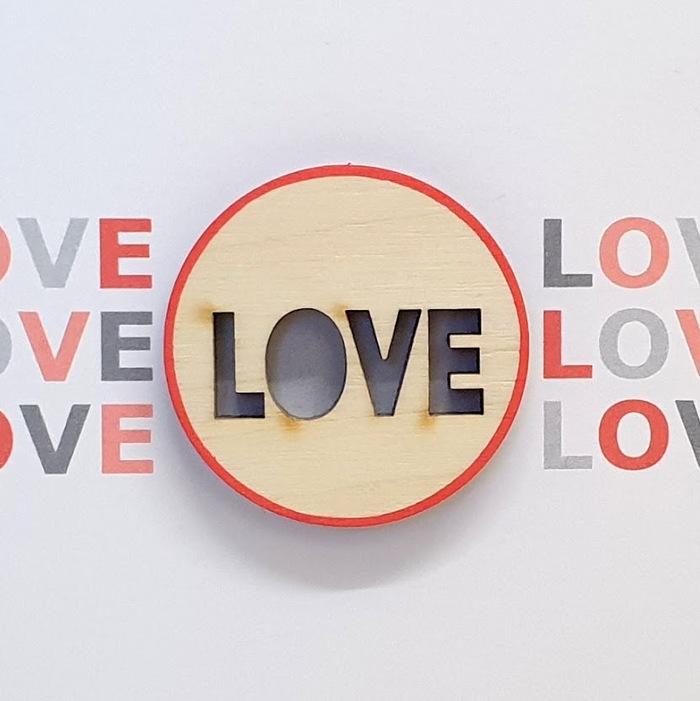 LOVE Valentines Card  detail