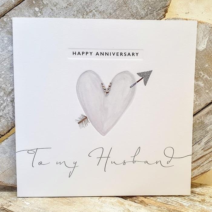 TO MY HUSBAND ANNIVERSARY CARD