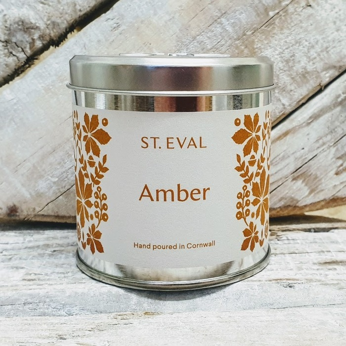 AMBER SCENTED CANDLE TIN