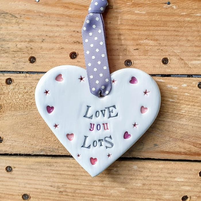 CERAMIC HEART LOVE YOU LOTS