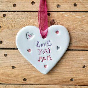 CERAMIC HEART LOVE YOU MUM