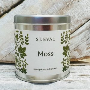 MOSS SCENTED CANDLE TIN