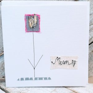 MUM, EMBROIDERED MOTHER'S DAY CARD