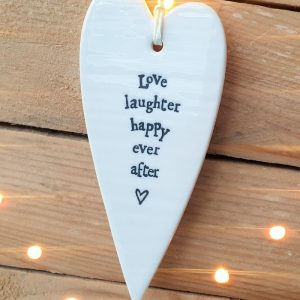 PORCELAIN HEART LOVE LAUGHTER DETAIL