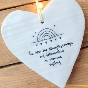 PORCELAIN HEART YOU HAVE STRENGTH DETAIL