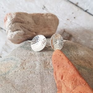 SILVER EARRINGS CONCAVE CIRCLE