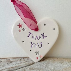 THANK YOU CERAMIC HEART
