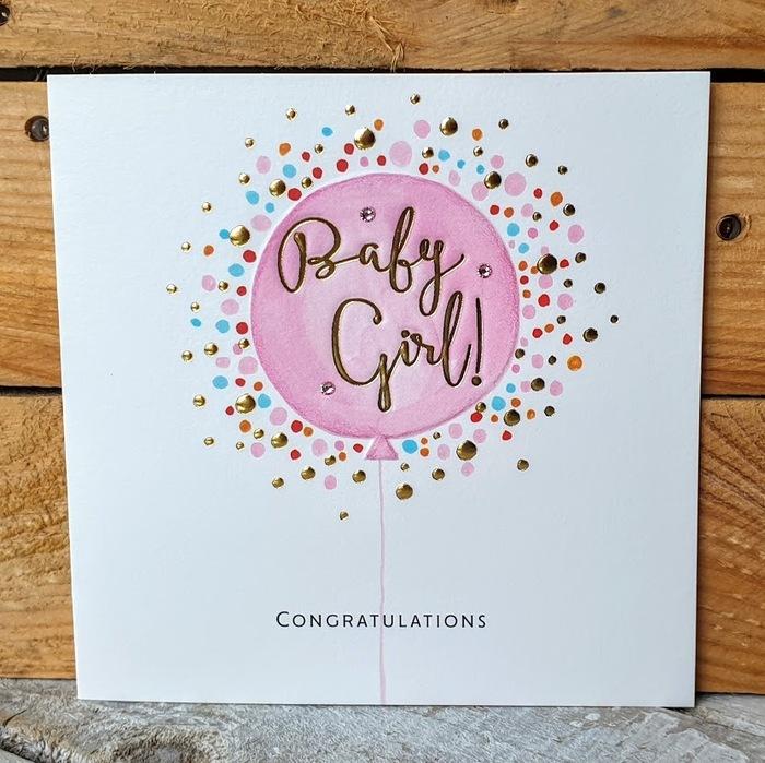BABY GIRL CARD CONGRATULATIONS