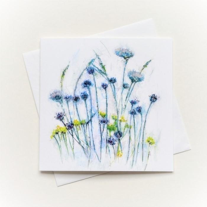 BLANK CARD BLUE GRASSES
