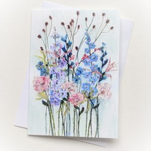 BLANK CARD DELPHINIUMS