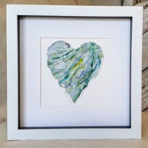 FRAMED ORIGINAL BLUE HEART