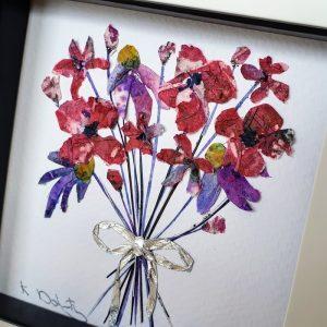 FRAMED ORIGINAL FLOWER BOUQUET DETAIL
