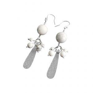 Cluster teardrop earrings
