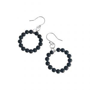 Onyx loop earrings