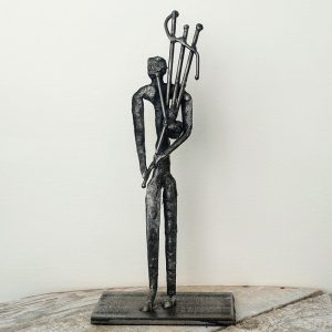 METAL FIGURE, BAGPIPER