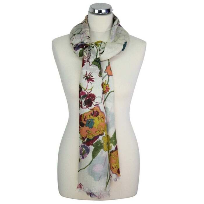 PRINTED SCARF ABSTRACT FLORAL DETAIL 2