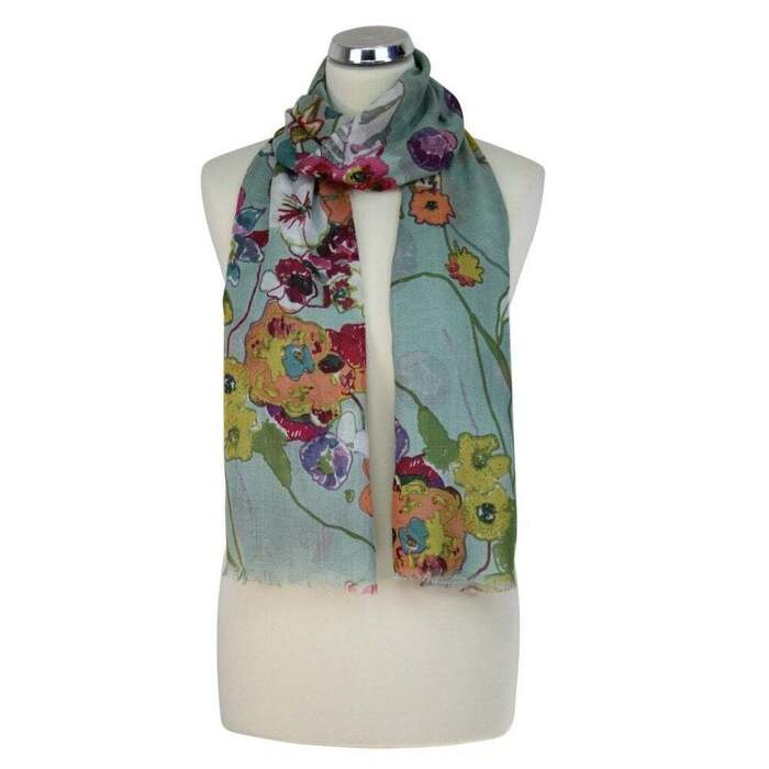 PRINTED SCARF ABSTRACT FLORAL