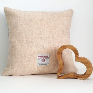 SQUARE HEART CUSHION BY MRS TWEEDY DETAIL