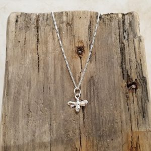 STERLING SILVER BEE CHARM PENDANT