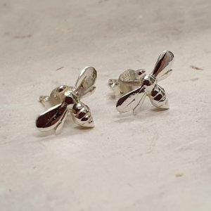 STERLING SILVER BEE STUDS DETAIL