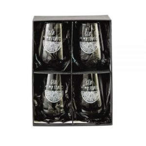 BOX OF FOUR GIN GLASSES DETAIL