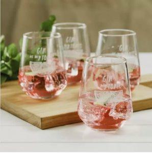 SET OF 4 GIN GLASSES